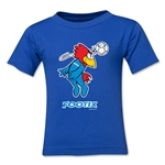 1998 FIFA World Cup Footix Kids Mascot Logo T-Shirt (Royal)