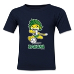 2010 FIFA World Cup Zakumi Kids Mascot Logo T-Shirt (Navy)