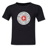 1954 FIFA World Cup Kids Emblem T-Shirt (Black)