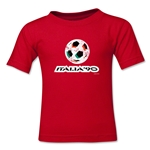 1990 FIFA World Cup Kids Emblem T-Shirt (Red)