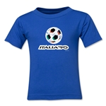 1990 FIFA World Cup Kids Emblem T-Shirt (Royal)