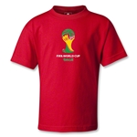 2014 FIFA World Cup Brazil(TM) Emblem Kids T-Shirt (Red)