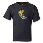 2014 FIFA World Cup Brazil(TM) Kids Mascot T-Shirt (Black)