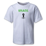 Brazil 2014 FIFA World Cup Brazil(TM) Kids Core T-Shirt (White)