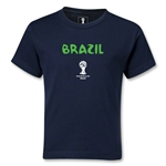 Brazil 2014 FIFA World Cup Brazil(TM) Kids Core T-Shirt (Navy)