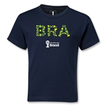 Brazil 2014 FIFA World Cup Brazil(TM) Kids Elements T-Shirt (Navy)