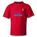 2014 FIFA World Cup Brazil(TM) Kids All In One Rhythm T-Shirt (Red)