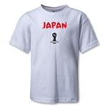 Japan 2014 FIFA World Cup Brazil(TM) Kids Core T-Shirt (White)
