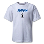 2014 FIFA World Cup Brazil(TM) Japan Core Kids T-Shirt (White)