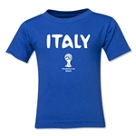 Italy 2014 FIFA World Cup Brazil(TM) Kids Core T-Shirt (Royal)