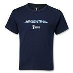 Argentina 2014 FIFA World Cup Brazil(TM) Kids Palm T-Shirt (Navy)