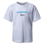 Argentina 2014 FIFA World Cup Brazil(TM) Kids Palm T-Shirt (White)