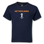 Netherlands 2014 FIFA World Cup Brazil(TM) Kids Core T-Shirt (Navy)