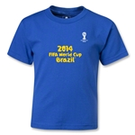 2014 FIFA World Cup Brazil(TM) Kids Logotype T-Shirt (Royal)