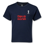 2014 FIFA World Cup Brazil(TM) Kids Portugese Logotype T-Shirt (Navy)