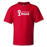 2014 FIFA World Cup Brazil(TM) Kids Landscape Emblem T-Shirt (Red)