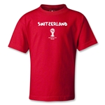 Switzerland 2014 FIFA World Cup Brazil(TM) Kids Core T-Shirt (Red)