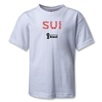 Switzerland 2014 FIFA World Cup Brazil(TM) Kids Elements T-Shirt (White)