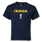 Colombia 2014 FIFA World Cup Brazil(TM) Kids Core T-Shirt (Navy)