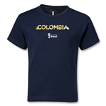 Colombia 2014 FIFA World Cup Brazil(TM) Kids Palm T-Shirt (Navy)