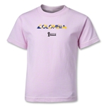 Colombia 2014 FIFA World Cup Brazil(TM) Kids Palm T-Shirt (Pink)