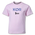 South Korea 2014 FIFA World Cup Brazil(TM) Kids Elements T-Shirt (Pink)