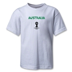 Australia 2014 FIFA World Cup Brazil(TM) Kids Core T-Shirt (White)