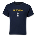 Australia 2014 FIFA World Cup Brazil(TM) Kids Core T-Shirt (Navy)