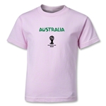 Australia 2014 FIFA World Cup Brazil(TM) Kids Core T-Shirt (Pink)