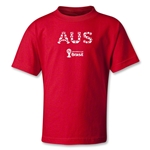 Australia 2014 FIFA World Cup Brazil(TM) Kids Elements T-Shirt (Red)