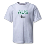 Australia 2014 FIFA World Cup Brazil(TM) Kids Elements T-Shirt (White)