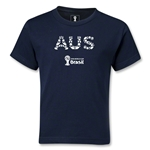 Australia 2014 FIFA World Cup Brazil(TM) Kids Elements T-Shirt (Navy)