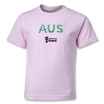 Australia 2014 FIFA World Cup Brazil(TM) Kids Elements T-Shirt (Pink)