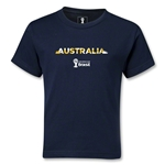 Australia 2014 FIFA World Cup Brazil(TM) Kids Palm T-Shirt (Navy)