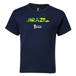 Brazil 2014 FIFA World Cup Brazil(TM) Kids Palm T-Shirt (Navy)