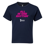 2014 FIFA World Cup Brazil(TM) Kids All In One Rhythm T-Shirt (Navy)