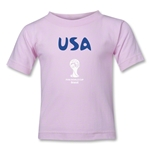 USA 2014 FIFA World Cup Brazil(TM) Kids Core T-Shirt (Pink)