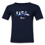 USA 2014 FIFA World Cup Brazil(TM) Kids Palm T-Shirt (Navy)