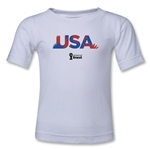USA 2014 FIFA World Cup Brazil(TM) Kids Palm T-Shirt (White)