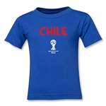 Chile 2014 FIFA World Cup Brazil(TM) Kids Core T-Shirt (Royal)