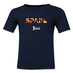 Spain 2014 FIFA World Cup Brazil(TM) Kids Palm T-Shirt (Navy)