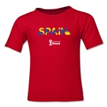 Spain 2014 FIFA World Cup Brazil(TM) Kids Palm T-Shirt (Red)