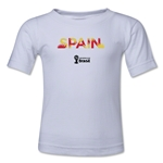 Spain 2014 FIFA World Cup Brazil(TM) Kids Palm T-Shirt (White)