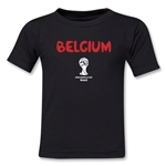 Belgium 2014 FIFA World Cup Brazil(TM) Kids Core T-Shirt (Black)