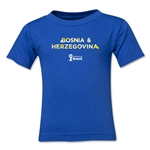 Bosnia-Herzegovina 2014 FIFA World Cup Brazil(TM) Kids Palm T-Shirt (Royal)