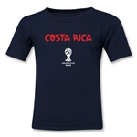 Costa Rica 2014 FIFA World Cup Brazil(TM) Kid's Core T-Shirt (Navy)