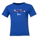 Russia 2014 FIFA World Cup Brazil(TM) Kid's Palm T-Shirt (Royal)