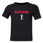 England 2014 FIFA World Cup Brazil(TM) Kid's Core T-Shirt (Black)
