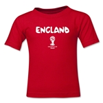 England 2014 FIFA World Cup Brazil(TM) Kid's Core T-Shirt (Red)