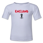 England 2014 FIFA World Cup Brazil(TM) Kid's Core T-Shirt (White)
